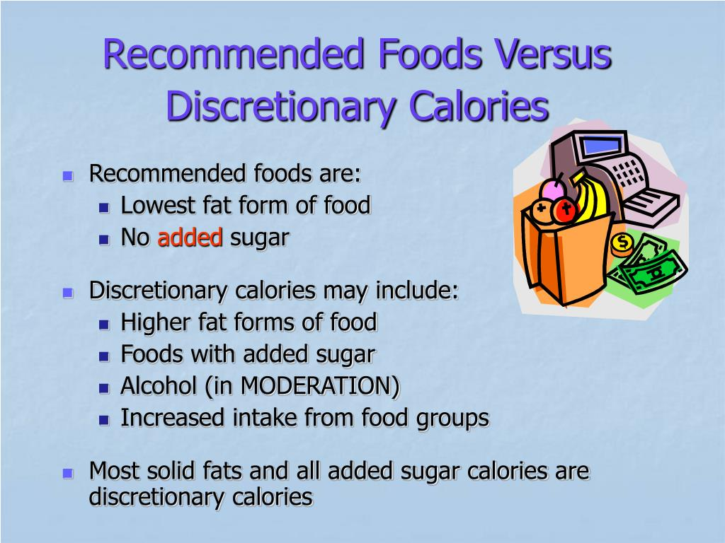 Recommended Foods Versus Discretionary Calories