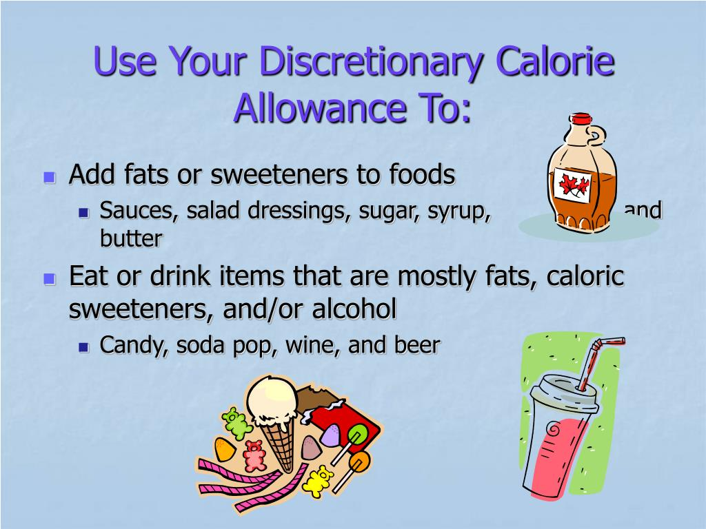 Use Your Discretionary Calorie Allowance To: