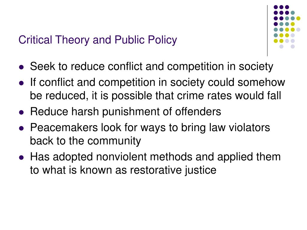 Critical Theory and Public Policy