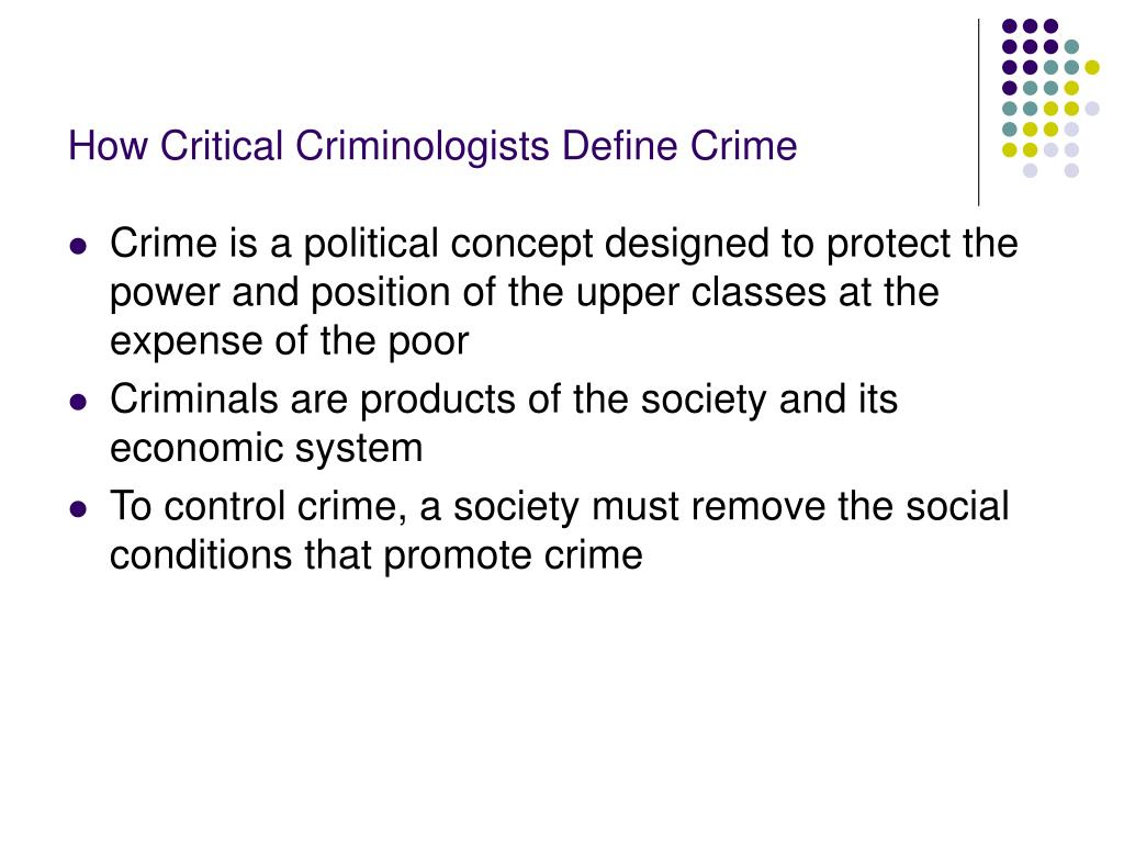 How Critical Criminologists Define Crime