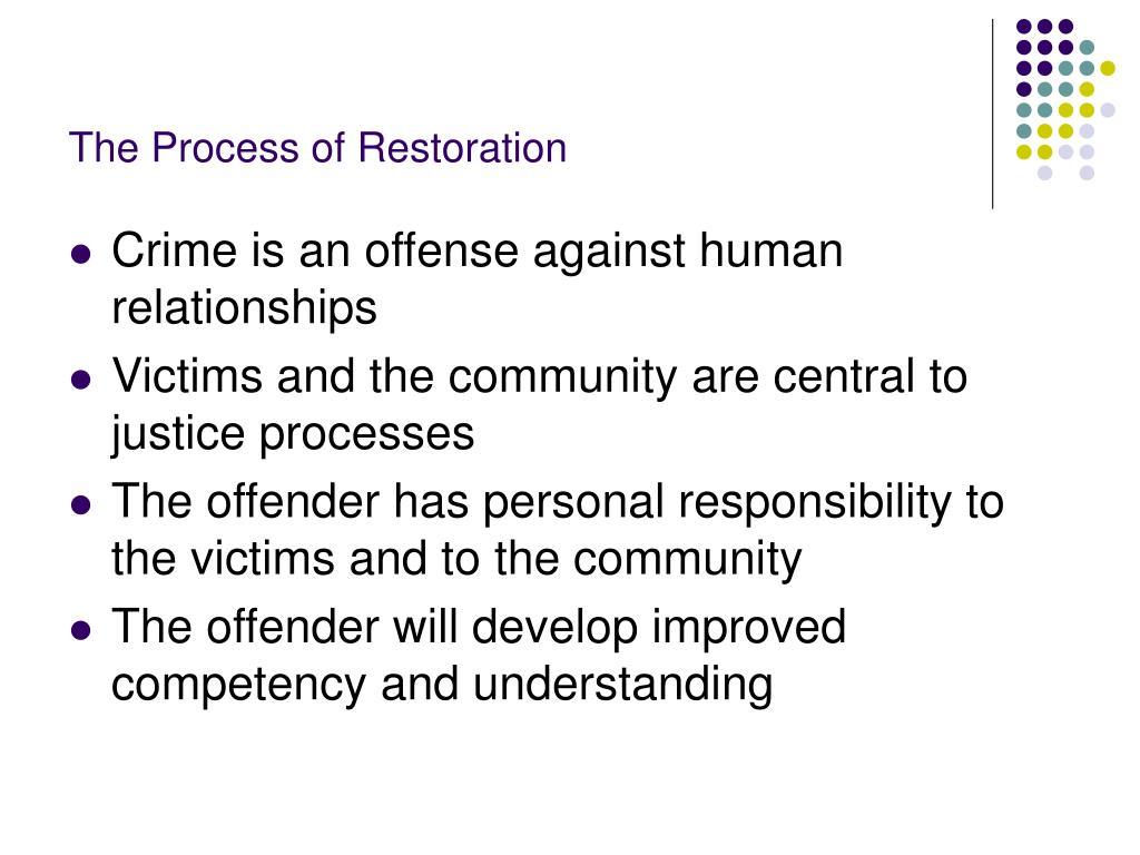 The Process of Restoration