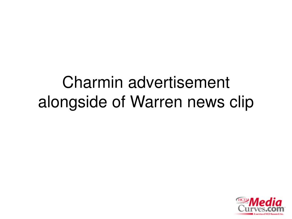 charmin advertisement alongside of warren news clip l.