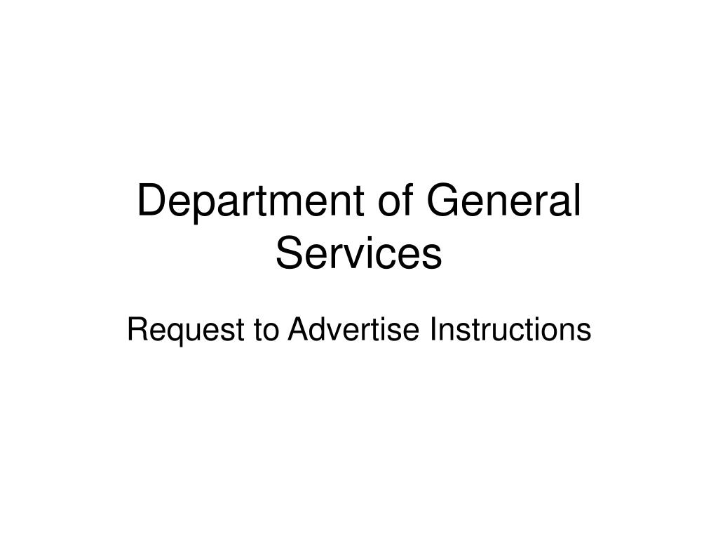 department of general services l.