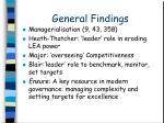 general findings