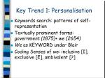 key trend 1 personalisation