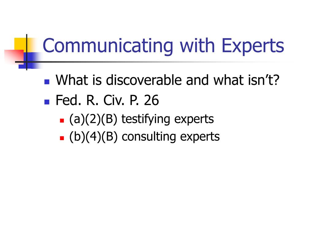 Communicating with Experts
