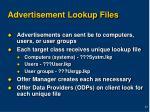 advertisement lookup files