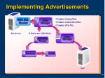 implementing advertisements