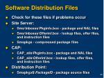 software distribution files