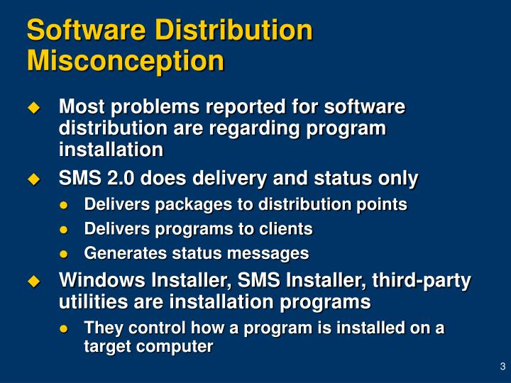 Software distribution misconception