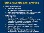 tracing advertisement creation