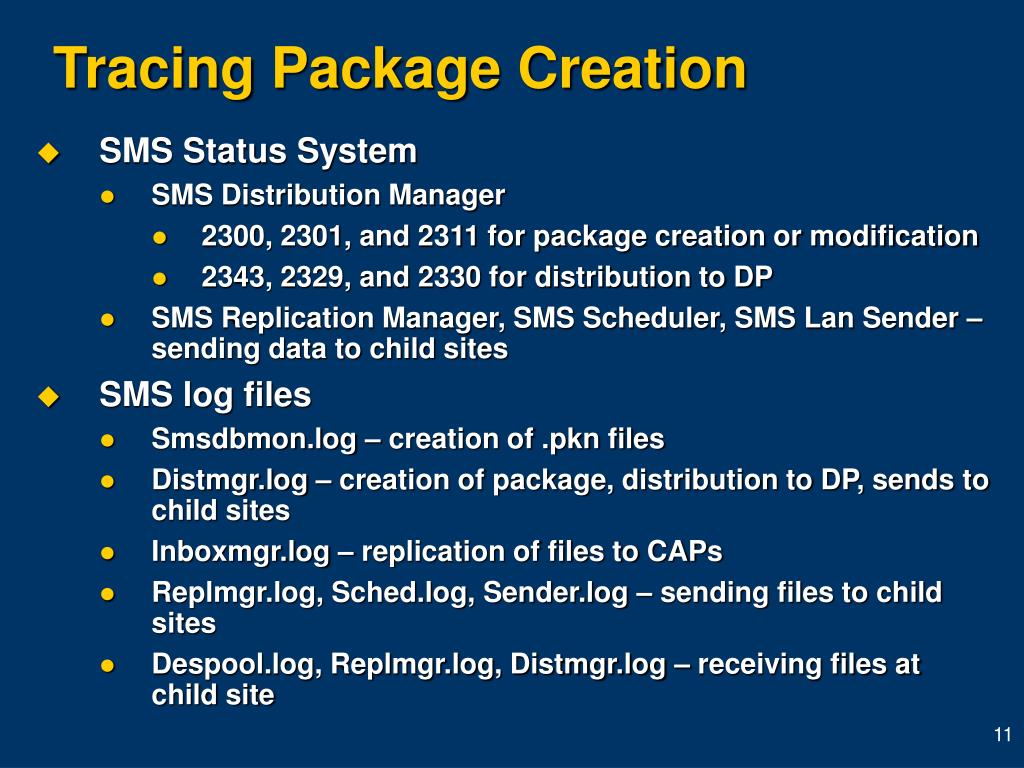 Tracing Package Creation
