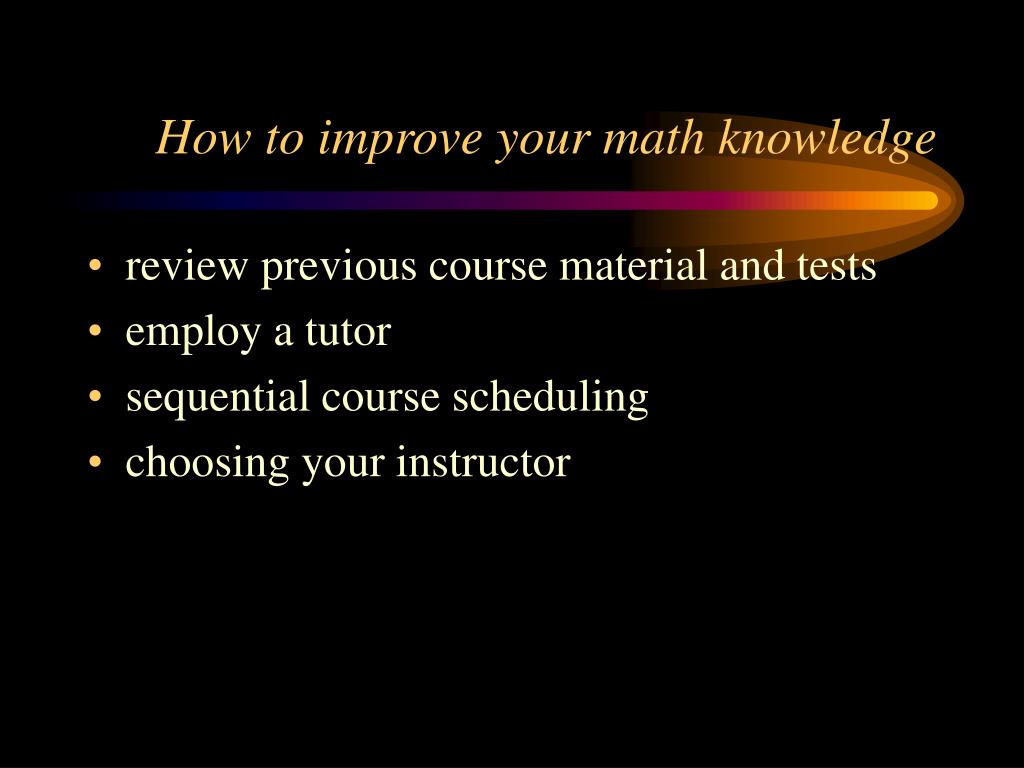 How to improve your math knowledge
