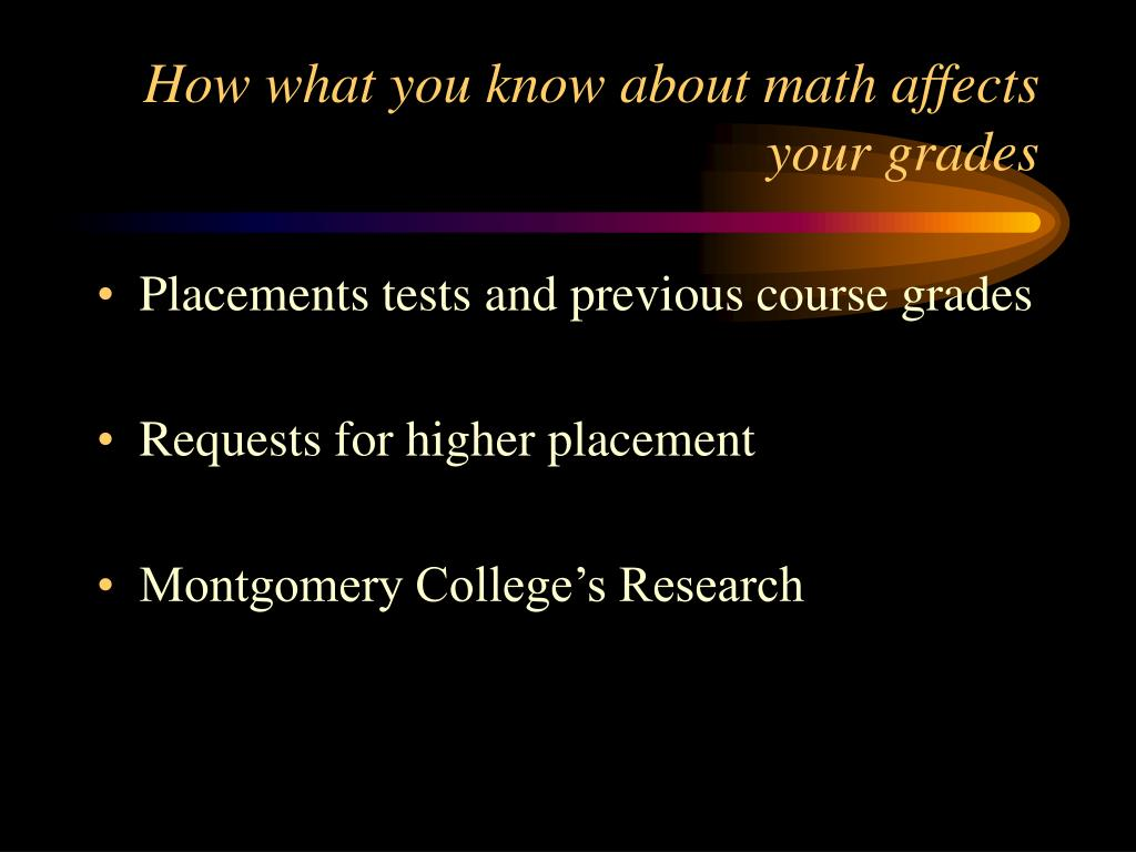 How what you know about math affects your grades