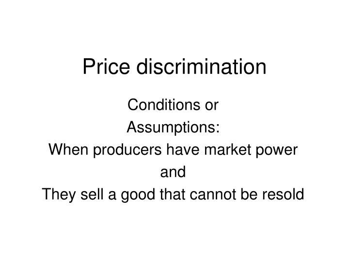 Price discrimination2