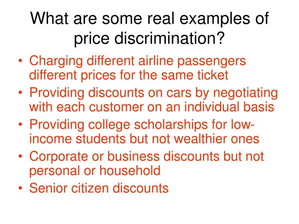 What are some real examples of price discrimination?