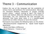 theme 3 communication