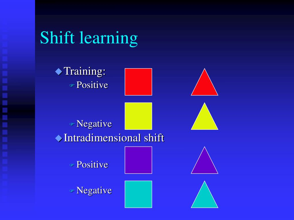 Shift learning