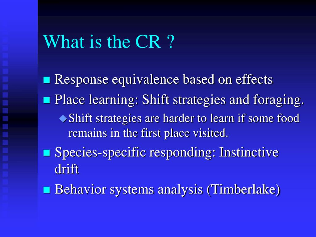 What is the CR ?