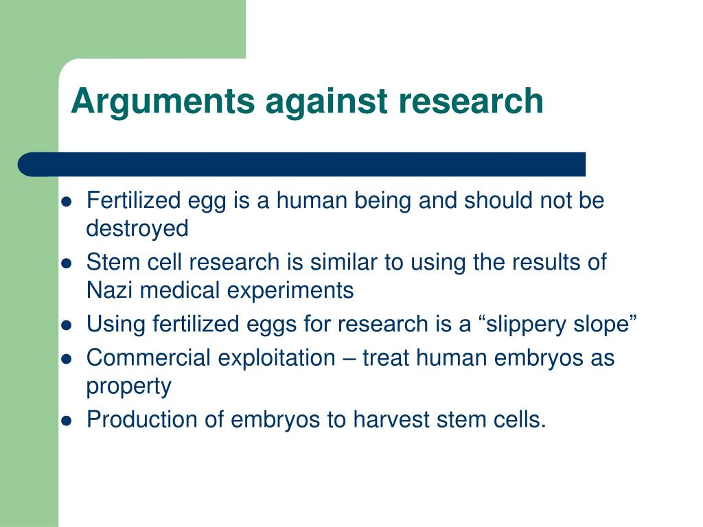 Arguments against research
