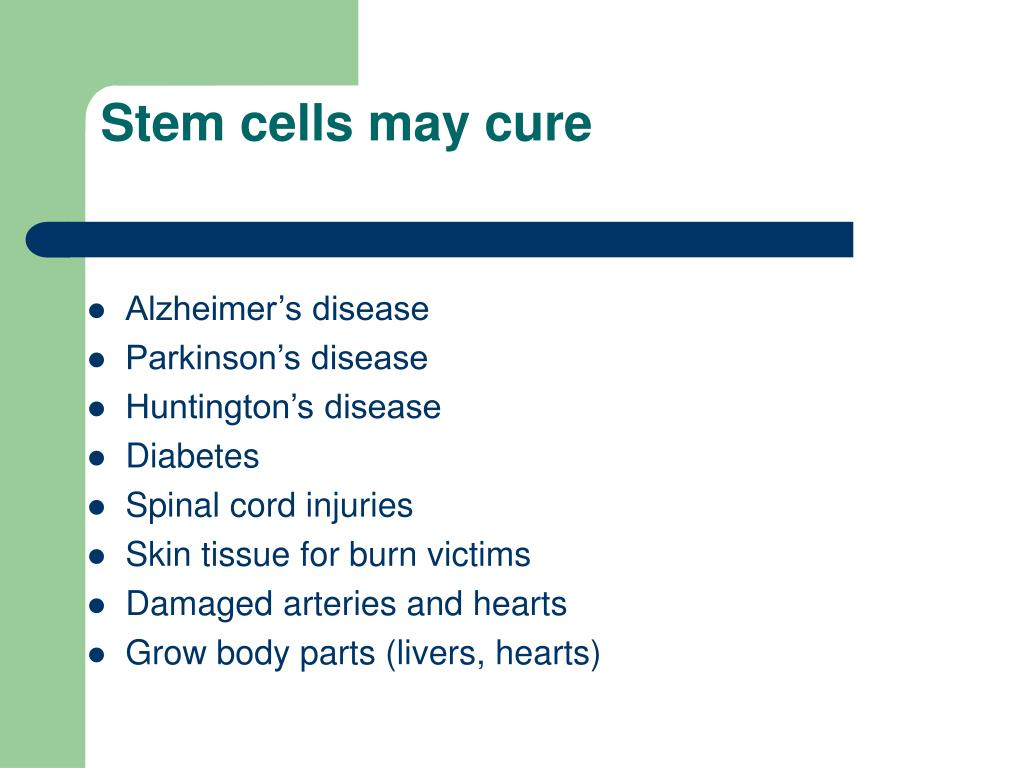 Stem cells may cure