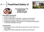 food feed safety of