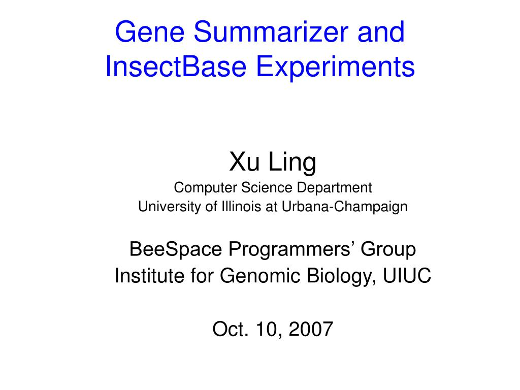 Gene Summarizer and