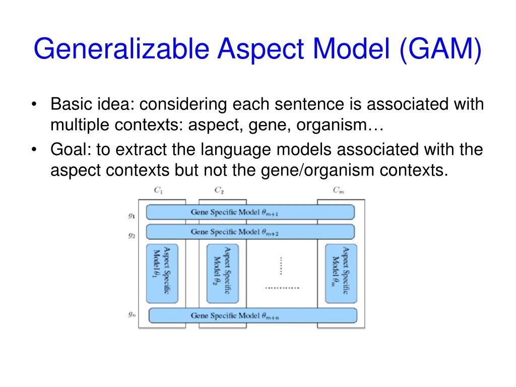 Generalizable Aspect Model (GAM)