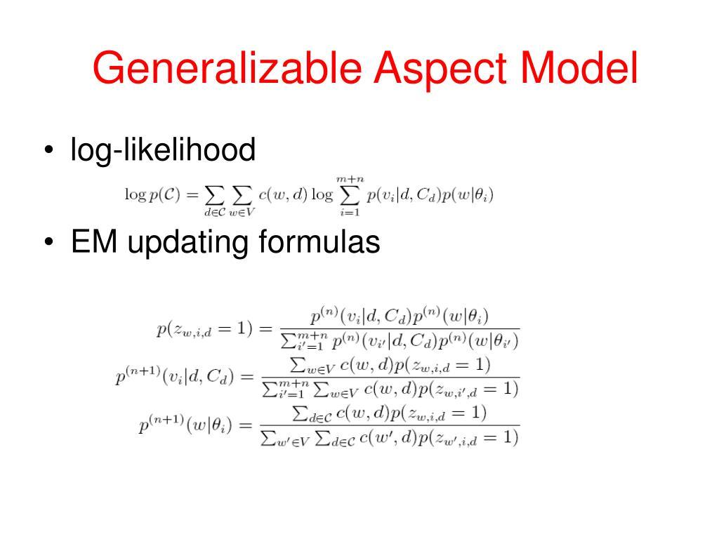 Generalizable Aspect Model