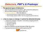 detectors pmt s preamps