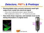 detectors pmt s preamps21
