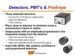 detectors pmt s preamps22