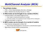 multichannel analyzer mca