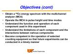 objectives cont