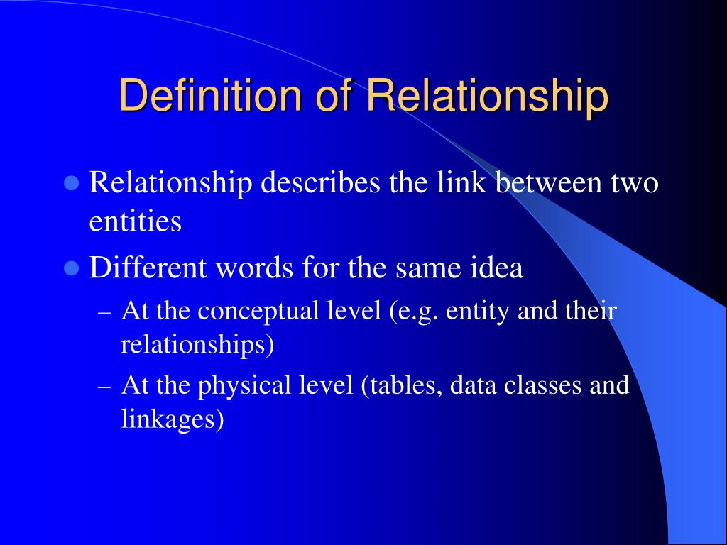 Definition of Relationship
