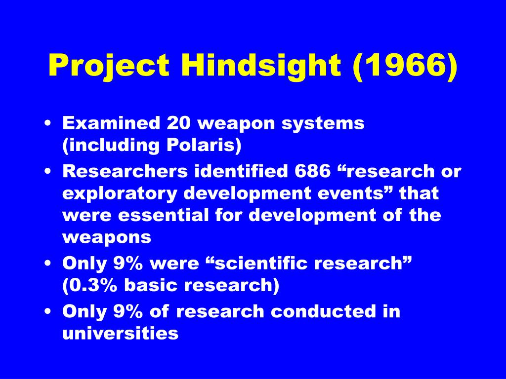 Project Hindsight (1966)