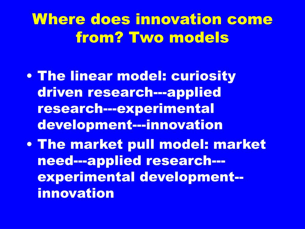 Where does innovation come from?