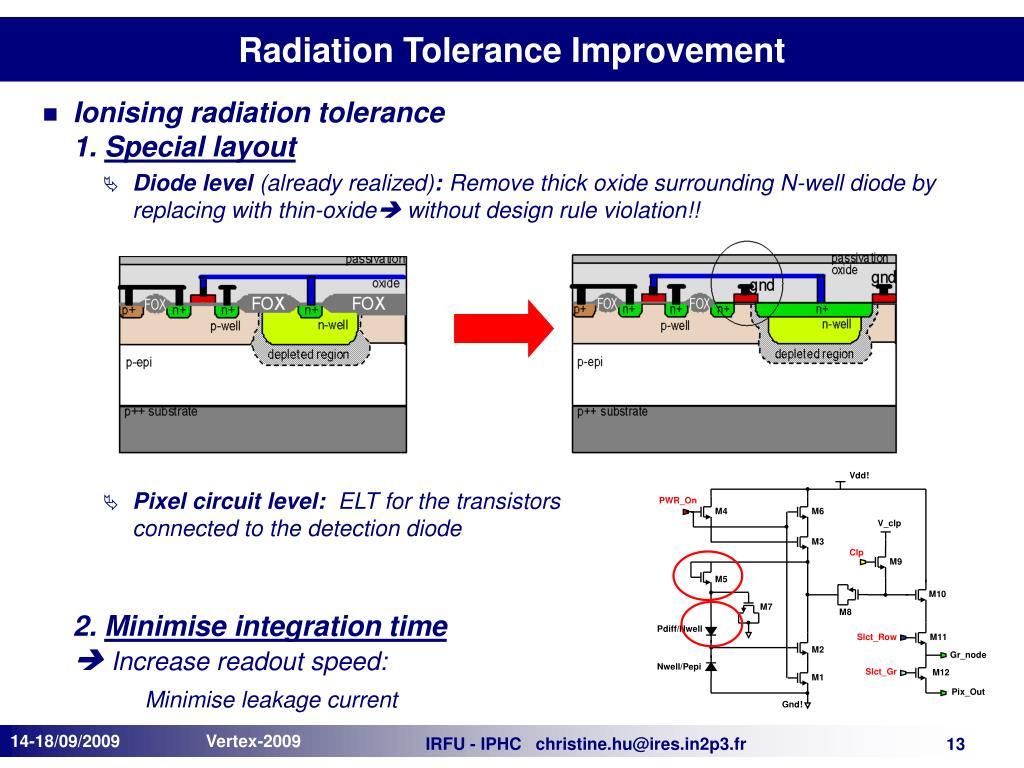 Radiation Tolerance Improvement