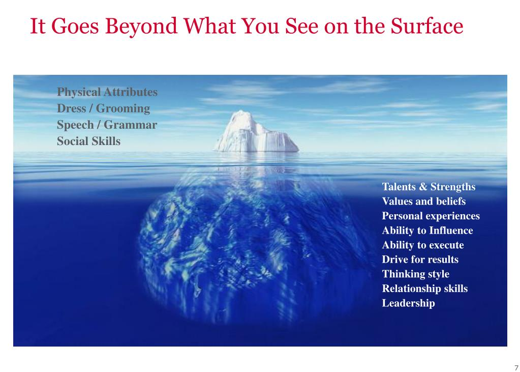 It Goes Beyond What You See on the Surface