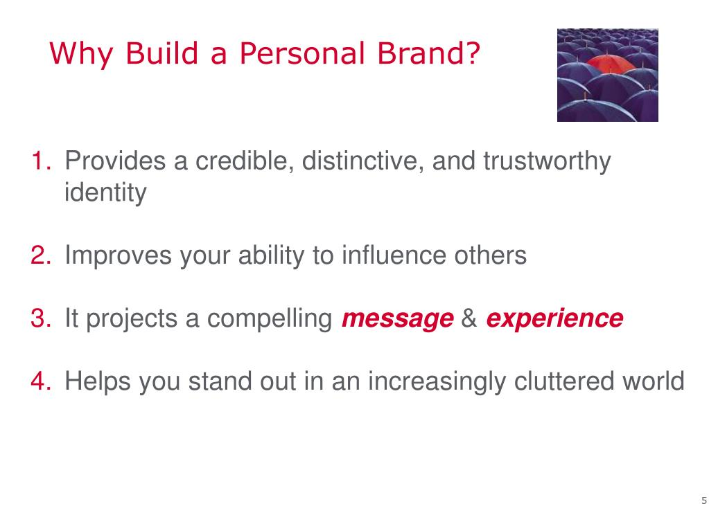 Why Build a Personal Brand?