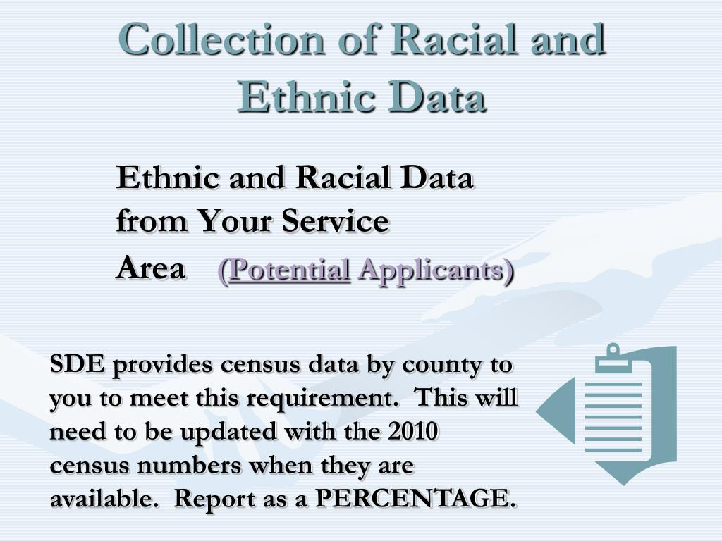 Collection of Racial and Ethnic Data