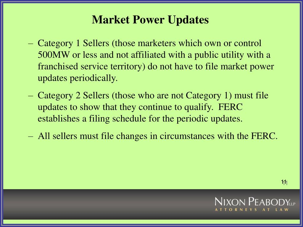 Market Power Updates