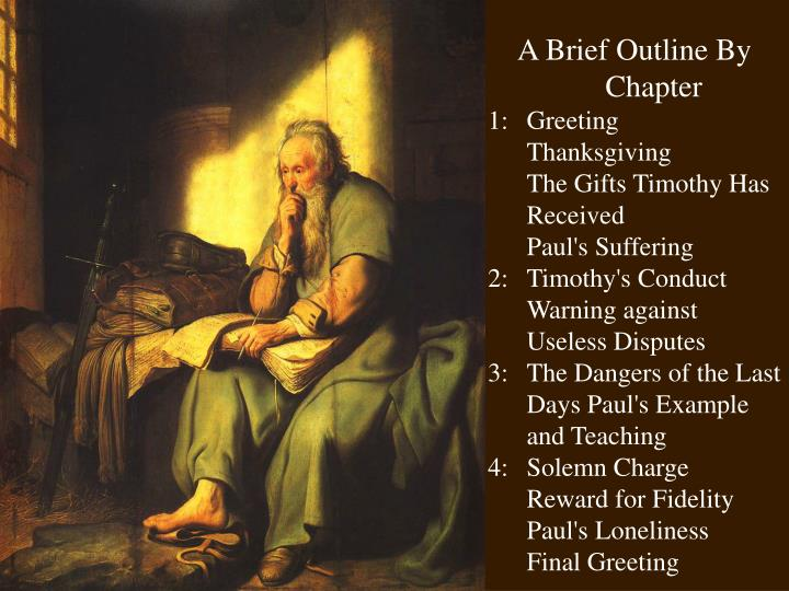 A Brief Outline By Chapter
