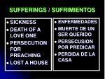 sufferings sufrimientos