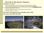 growth of the sports industry