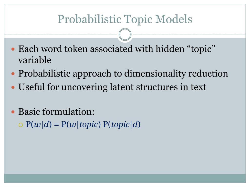 Probabilistic Topic Models