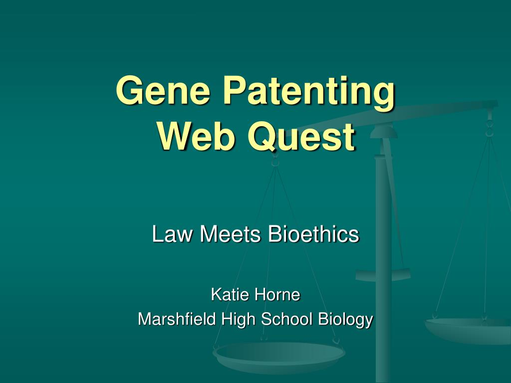 gene patenting web quest l.