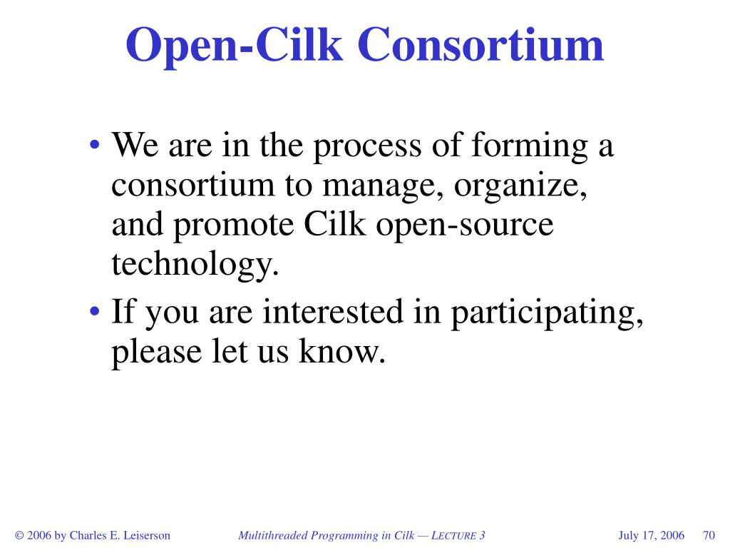 Open-Cilk Consortium