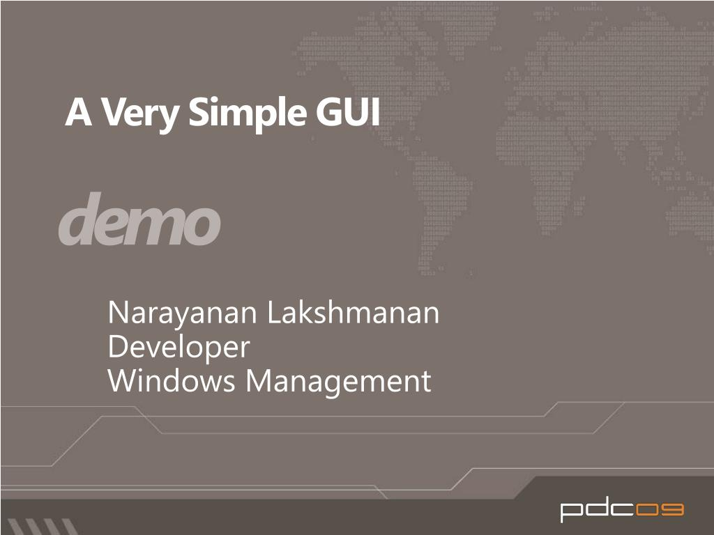 A Very Simple GUI