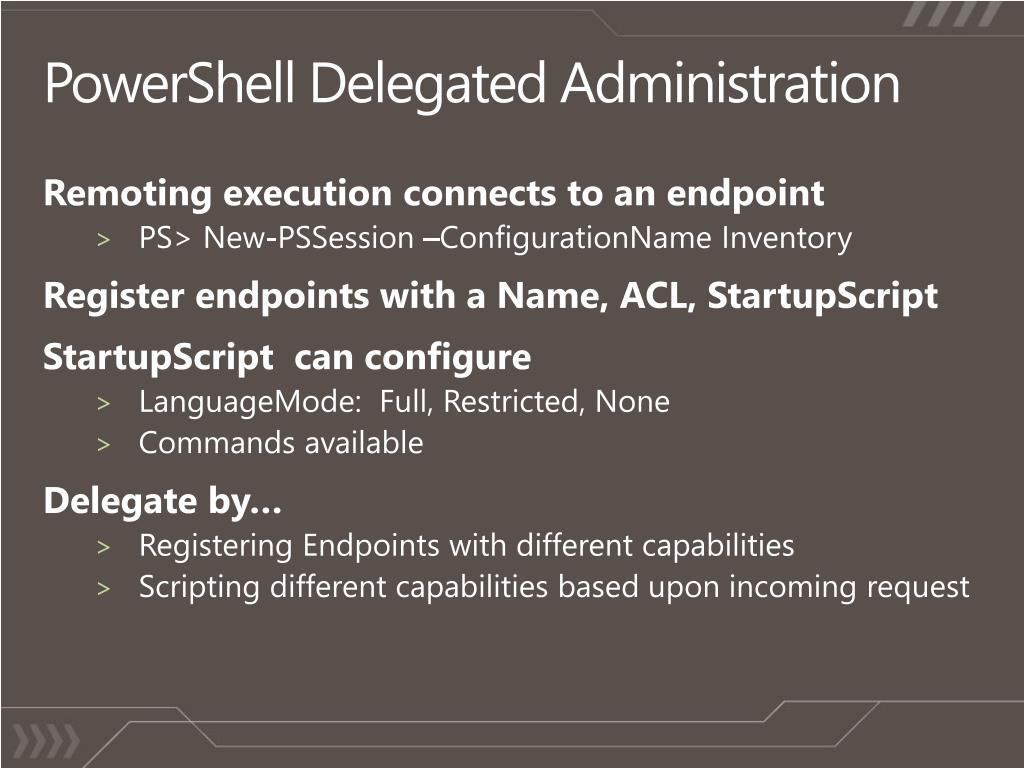 PowerShell Delegated Administration